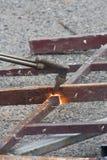 λειωμένο μέταλλο σιδήρο&up Στοκ φωτογραφία με δικαίωμα ελεύθερης χρήσης