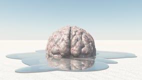Λειωμένο μέταλλο εγκεφάλου απεικόνιση αποθεμάτων