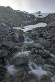Λειωμένο μέταλλο χιονιού Στοκ φωτογραφία με δικαίωμα ελεύθερης χρήσης