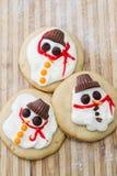 Λειωμένο μπισκότο χιονανθρώπων Στοκ Εικόνα