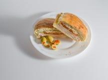 Λειωμένο σάντουιτς Τουρκία-προβολόνε Στοκ Φωτογραφίες