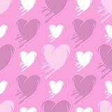 Λειώνοντας άνευ ραφής σχέδιο καρδιών Στοκ Φωτογραφία
