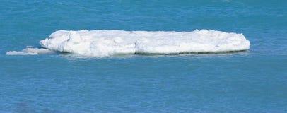 Λειώνοντας επιπλέων πάγος πάγου στη λίμνη Μίτσιγκαν Στοκ Εικόνα
