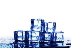 Λειώνοντας κύβοι πάγου Στοκ εικόνα με δικαίωμα ελεύθερης χρήσης