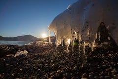 Λειώνοντας πάγος Στοκ Φωτογραφίες