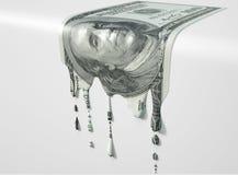 Λειώνοντας στάζοντας τραπεζογραμμάτιο αμερικανικών δολαρίων στοκ φωτογραφία με δικαίωμα ελεύθερης χρήσης