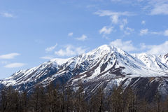 λειώνοντας χιόνι βουνών Στοκ Εικόνα