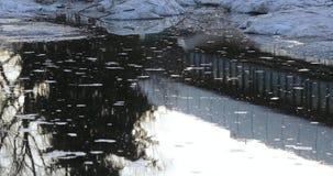 Λειώνοντας χιόνι και πάγος απόθεμα βίντεο