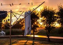 Λεκάνη πλυσίματος στο ηλιοβασίλεμα Στοκ εικόνες με δικαίωμα ελεύθερης χρήσης