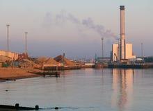 Λεκάνη Shoreham και εγκαταστάσεις ηλεκτρικής ενέργειας Στοκ φωτογραφία με δικαίωμα ελεύθερης χρήσης