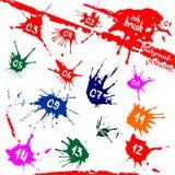 Λεκέδες μελανιού Ανασκόπηση Grunge Μορφή χρωμάτων Στοιχείο παφλασμών χρώματος για το σχέδιό σας ελεύθερη απεικόνιση δικαιώματος