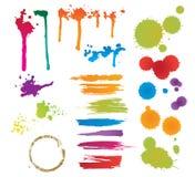 λεκέδες συνόλου χρώματ&omic απεικόνιση αποθεμάτων