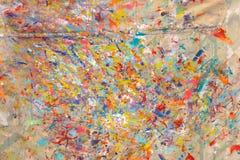 Λεκέδες του χρώματος στο ύφασμα Στοκ φωτογραφία με δικαίωμα ελεύθερης χρήσης