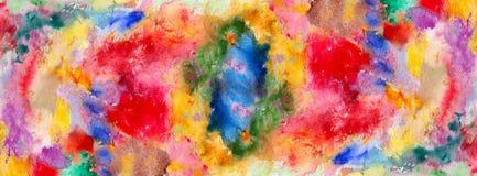 Λεκέδες χρώματος Watercolor και κτυπήματα βουρτσών ελεύθερη απεικόνιση δικαιώματος