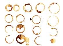 Λεκές δαχτυλιδιών καφέ Στοκ Εικόνες