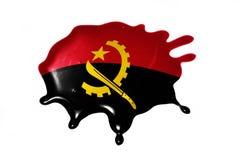 Λεκές με τη εθνική σημαία της Ανγκόλα Στοκ Εικόνες