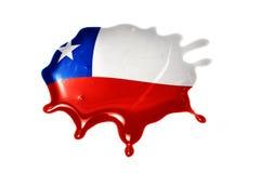 Λεκές με τη εθνική σημαία της Χιλής Στοκ Εικόνες