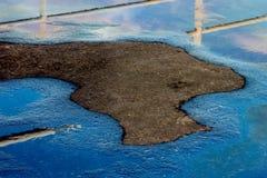 Λεκές πετρελαίου Στοκ φωτογραφία με δικαίωμα ελεύθερης χρήσης