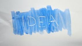 Λεκές χρωμάτων καλλιτεχνών watercolor επιγραφής κειμένων ιδέας που απομονώνεται στο άσπρο υπόβαθρο Στοκ Εικόνες