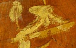 Λεκές χρωμάτων στο ξύλινες υπόβαθρο και τη σύσταση καρεκλών Στοκ Φωτογραφίες