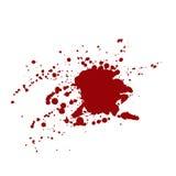 Λεκέδες αίματος που απομονώνονται στο άσπρο υπόβαθρο Στοκ Φωτογραφίες