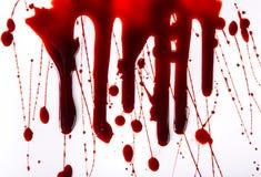 Λεκέδες αίματος Splattered στο άσπρο υπόβαθρο Στοκ Φωτογραφία