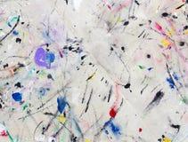 Λεκέδες από το χρωματισμένο χρώμα στο ύφασμα διανυσματική απεικόνιση