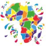 Λεκέδες και λεκέδες με την Αφρική Στοκ Εικόνες