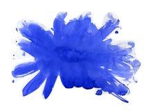 Λεκέδες και λεκέδες Watercolor αφηρημένο watercolor σύστασης εγγράφου ανασκόπησης μπλε χρωματισμένο Στοκ Εικόνα