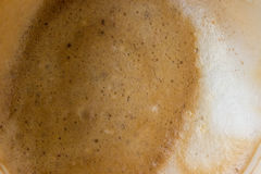 Λεκέδες καφέ στο γυαλί Στοκ εικόνες με δικαίωμα ελεύθερης χρήσης