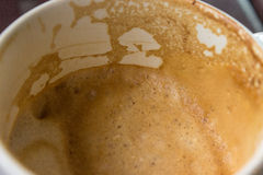 Λεκέδες καφέ στο γυαλί Στοκ Εικόνες