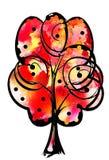 Λεκέδες Watercolor όπως το δέντρο Αφηρημένη τέχνη watercolor Στοκ Φωτογραφίες