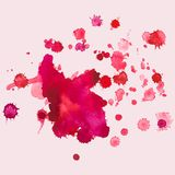 Λεκέδες Watercolour, παφλασμός, διανυσματική απεικόνιση Στοκ εικόνα με δικαίωμα ελεύθερης χρήσης