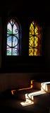 Λεκιασμένες αντανακλάσεις γυαλιού με τις αντανακλάσεις στα σκαλοπάτια Στοκ Φωτογραφίες