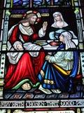 Λεκιασμένη τέχνη γυαλιού του ST Andrew καθεδρικός ναός Στοκ εικόνες με δικαίωμα ελεύθερης χρήσης