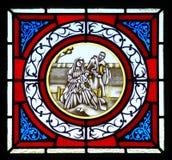 Λεκιασμένη χήρα γυαλιού με τον Ιησού στοκ φωτογραφία με δικαίωμα ελεύθερης χρήσης
