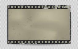 Λεκιασμένη Grunge λουρίδα ταινιών με τη σκιά στο τακτοποιημένο υπόβαθρο επίσης corel σύρετε το διάνυσμα απεικόνισης ελεύθερη απεικόνιση δικαιώματος