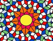 λεκιασμένος γυαλί ήλιο&s Στοκ Εικόνα