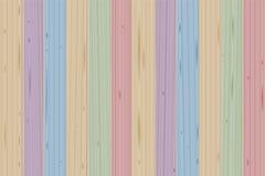 Λεκιασμένος ξύλινος χρωματισμένος τοίχος πινάκων απεικόνιση αποθεμάτων