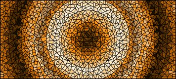 Λεκιασμένο αφηρημένο υπόβαθρο απεικόνισης γυαλιού, μονοχρωματικός, καφετιά, οριζόντια εικόνα τόνου διανυσματική απεικόνιση