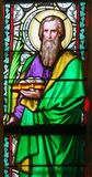 Λεκιασμένο γυαλί - Άγιος Barnabas στοκ φωτογραφίες με δικαίωμα ελεύθερης χρήσης