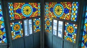 λεκιασμένο γυαλί παράθυρο στοκ φωτογραφία