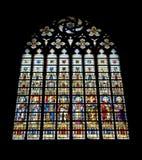 λεκιασμένο γυαλί παράθυ& Στοκ εικόνες με δικαίωμα ελεύθερης χρήσης