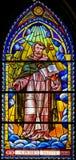 Λεκιασμένο γυαλί στην εκκλησία του Άγιου Βασίλη της Βαλένθια Στοκ φωτογραφία με δικαίωμα ελεύθερης χρήσης