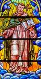 Λεκιασμένο γυαλί στην εκκλησία του Άγιου Βασίλη της Βαλένθια Στοκ Εικόνες