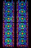 Λεκιασμένο γυαλί στην εκκλησία του Άγιου Βασίλη της Βαλένθια Στοκ φωτογραφίες με δικαίωμα ελεύθερης χρήσης