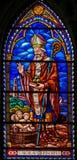 Λεκιασμένο γυαλί του Άγιου Βασίλη στη Βαλένθια Στοκ φωτογραφία με δικαίωμα ελεύθερης χρήσης