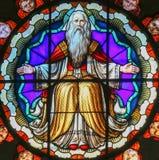 Λεκιασμένο γυαλί του Θεού - βασιλική του SAN Petronio, Μπολόνια Στοκ Εικόνες