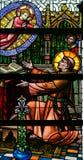 Λεκιασμένο γυαλί - Άγιος Anthony της Πάδοβας και του νηπίου Ιησούς Στοκ Εικόνα