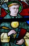 Λεκιασμένο γυαλί - Άγιος Thomas Aquinas Στοκ φωτογραφία με δικαίωμα ελεύθερης χρήσης